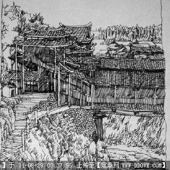 朱振中建筑钢笔画图书