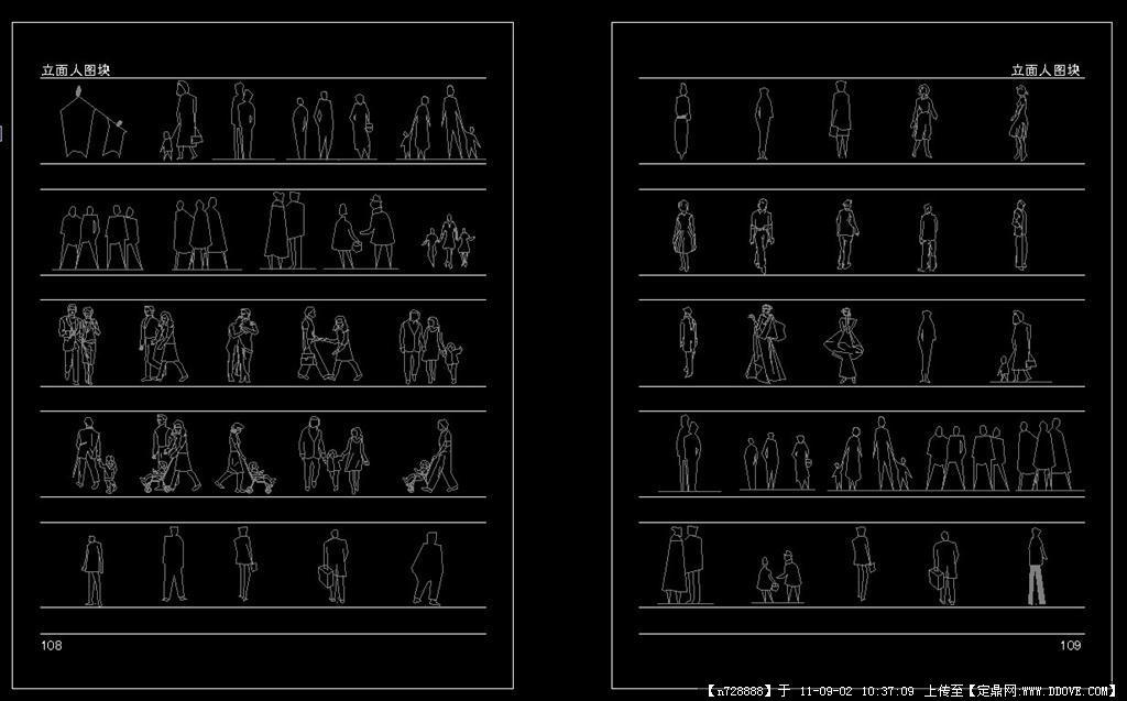 立面人CAD图块2015cadmac包汉化图片