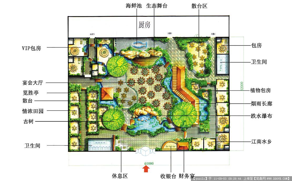 生态园餐饮平面布置图的图片浏览