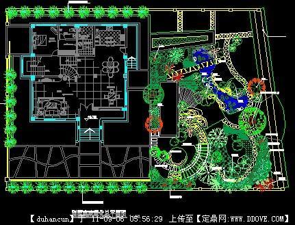 图回复图片花园设计施工; 别墅景观布置方案图;