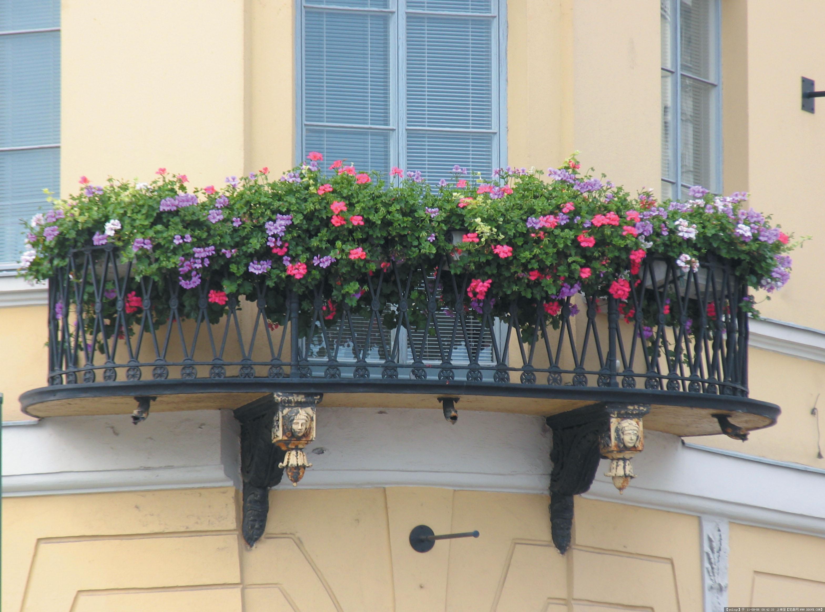 欧洲古典建筑景观 阳台造型