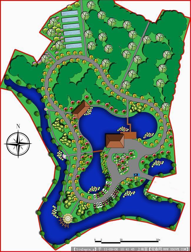 农业园景观规划设计平面图的下载地址,园林方案设计,科技园区,