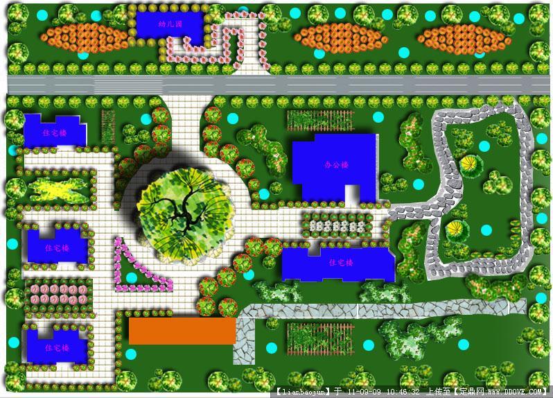ps 小区景观规划平面图