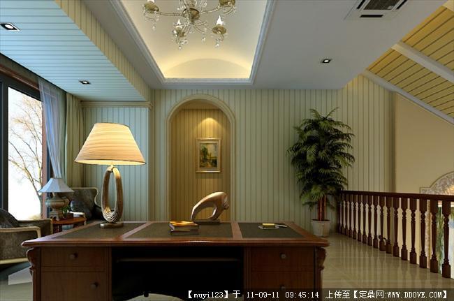 欧式复式别墅室内装修效果图