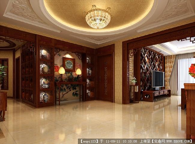 中式室内装修设计效果图