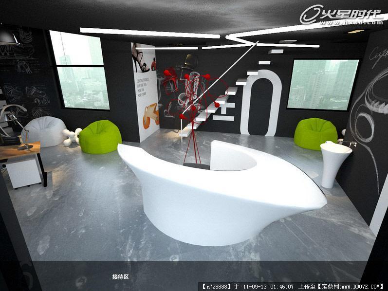 火星时代2011室内设计大赛获奖作品07-工作室