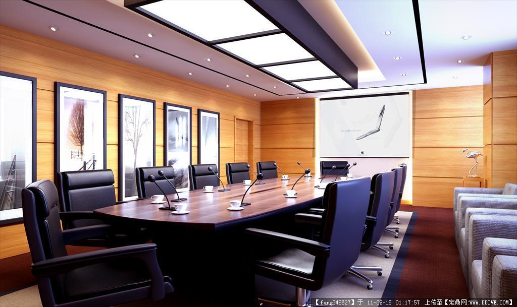 办公楼室内设计图纸15张效果图2张