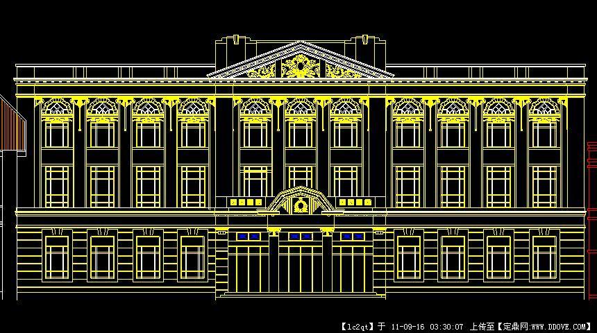 经典欧式建筑cad立面图的下载地址