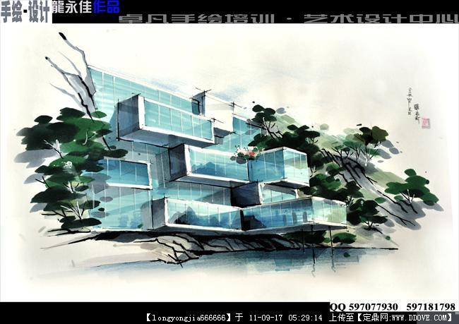 龙永佳 手绘·设计效果图的图片浏览,建筑效果图,手绘