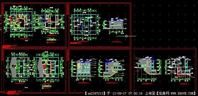 小别墅全套建筑施工图.dwg