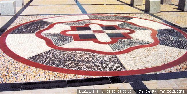 圆形广场铺装效果图 广场地面铺装效果图