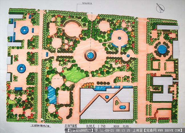 园林规划设计作业:某城市广场规划平面图