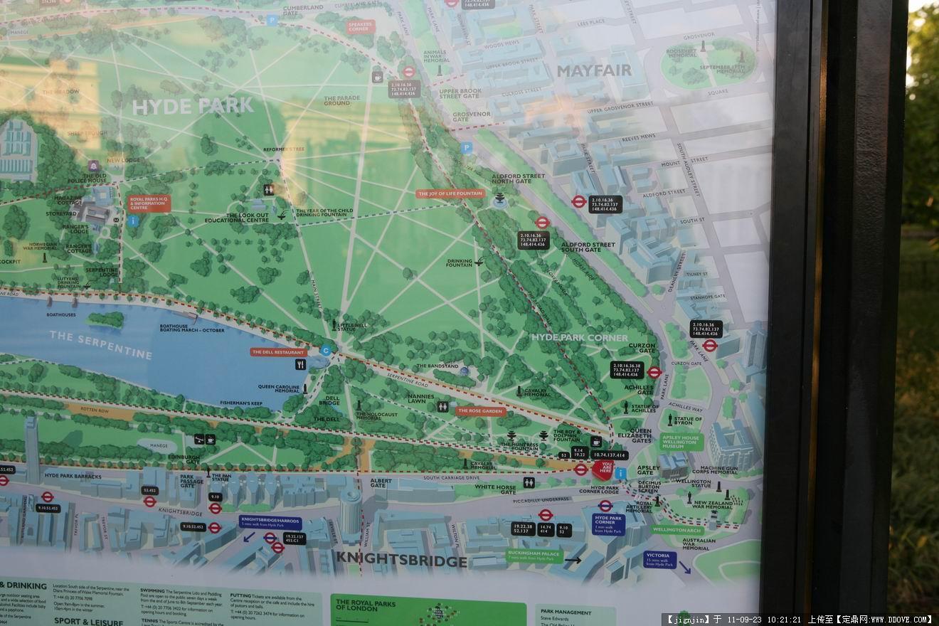 海德公园平面图