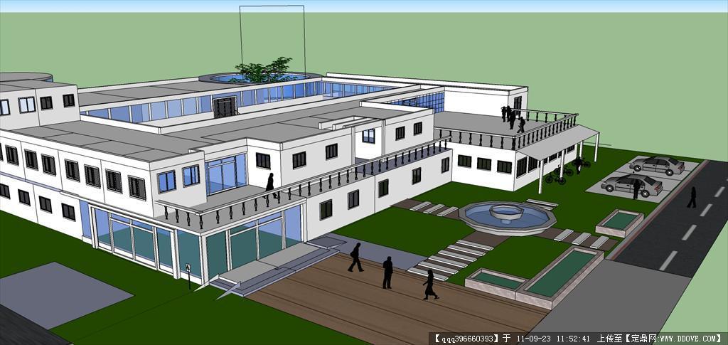 大学生活动中心建筑方案图