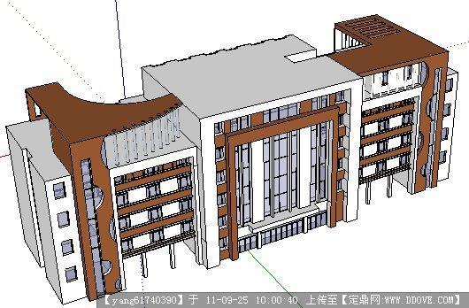 小学教学楼sketchup模型