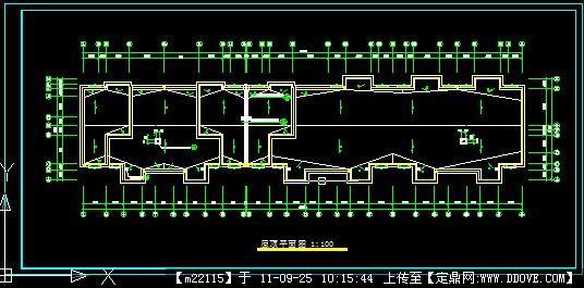 全套多层住宅楼屋顶平面图