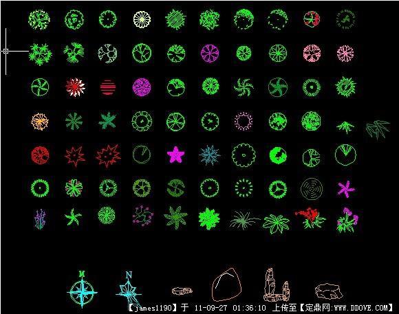 很实用的CAD植物图例(图标)cad选中一个多边形怎么图片