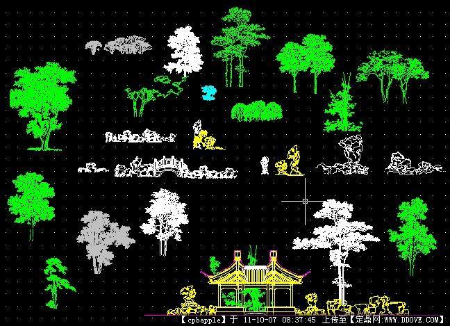 景观植物图例