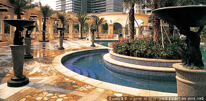 喷泉-圆形喷泉-圆形喷水池027