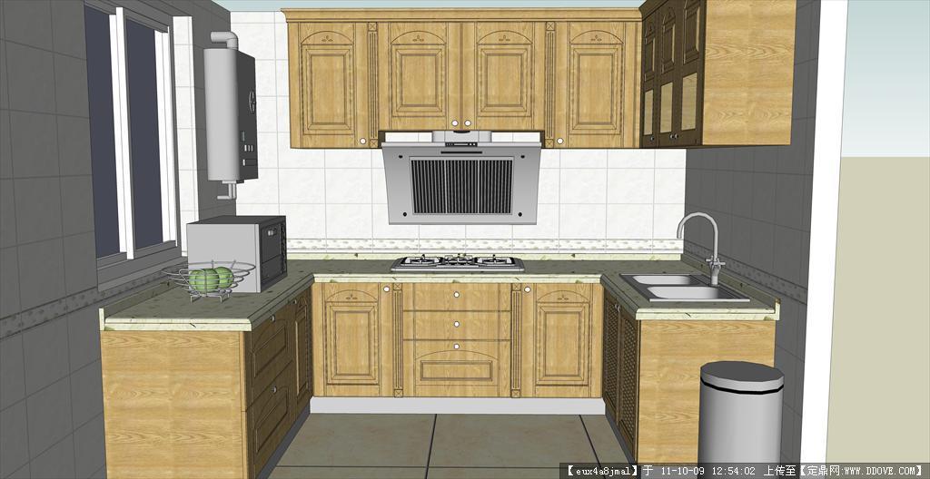 室内 厨柜skp模型的下载地址