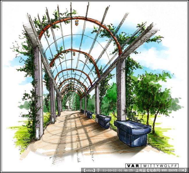 景观建筑手绘效果图的图片浏览,园林效果图,手绘效果
