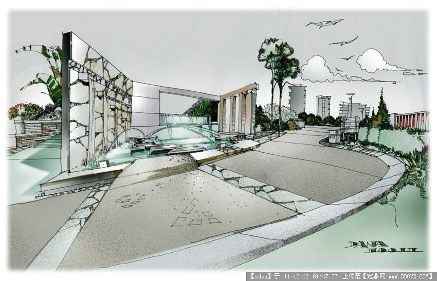 建筑手绘-网手笔32.jpg 原始尺寸:850 * 548