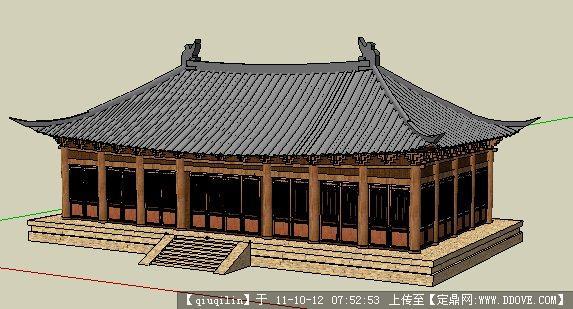古建建筑su模型的下载地址