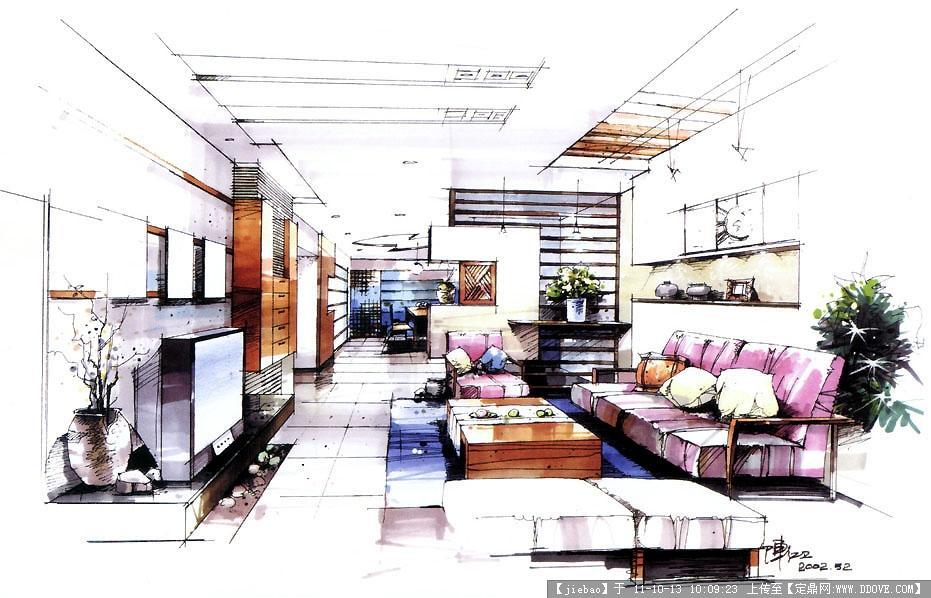 某室内设计平面图的下载地址,室内方案图纸,住宅样板