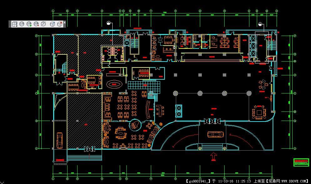 酒店大堂布置平面图