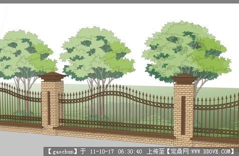 围墙设计_围墙设计及施工图_农村别墅围墙门头设计