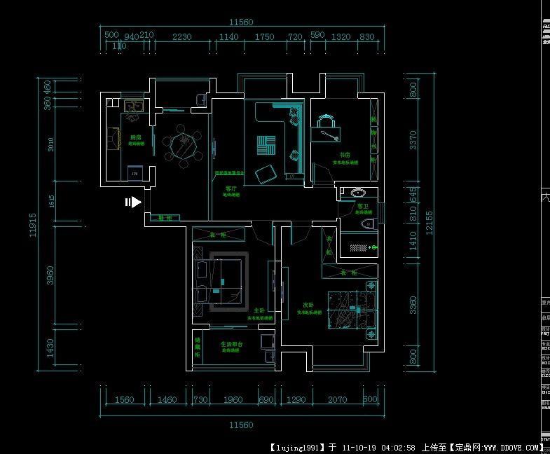 家装室内平面图cad