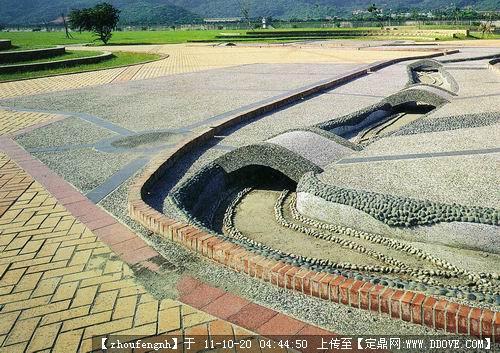我的手绘作业效果图 佳禾小区设计景观施工图 喷泉-圆形喷泉实景图片