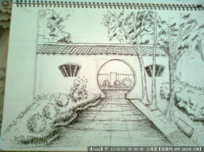 苏州园林手绘图