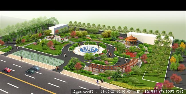 某公园设计方案效果图