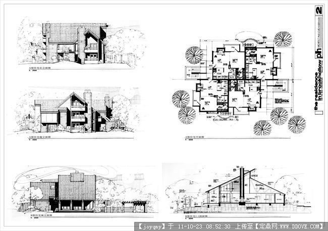 手绘建筑图