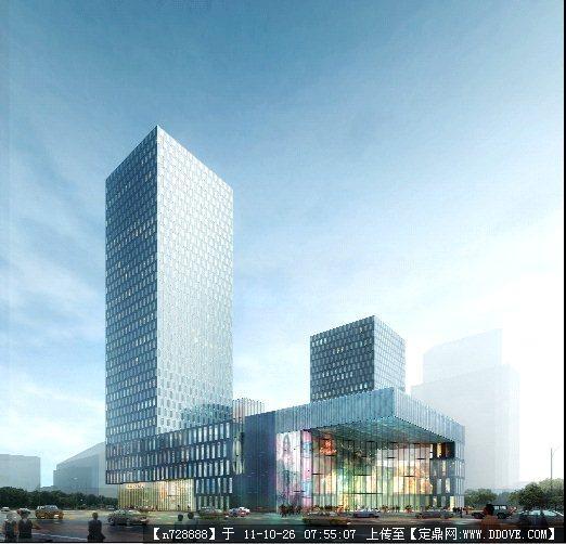 某大型v图纸图纸建筑设计效果图psd商业()东方明珠纸模格式图片