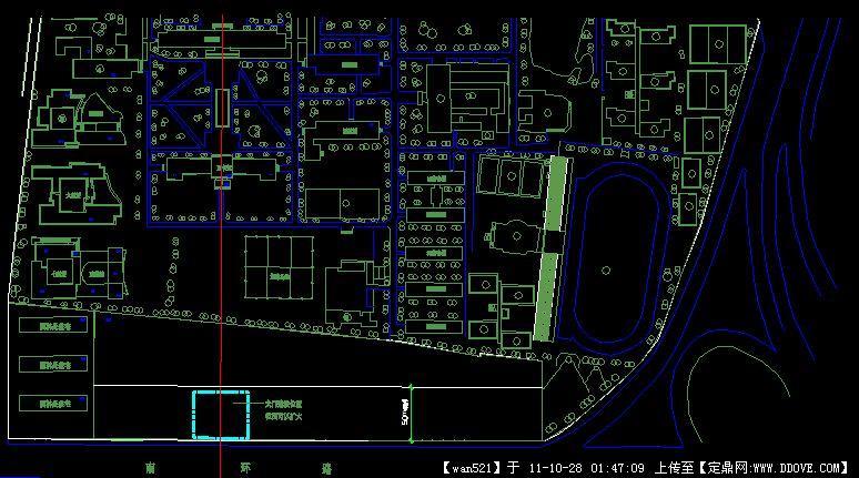 某大学学校平面图