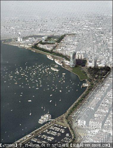 滨海城市规划设计效果图psd格式