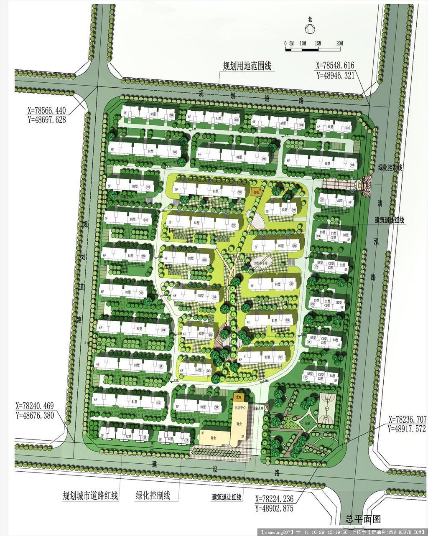 几个小区的规划设计平面图