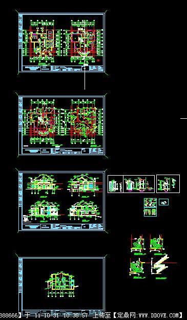 定鼎建筑 建筑方案图纸 别墅建筑 某别墅建筑设计图  序号 文件名