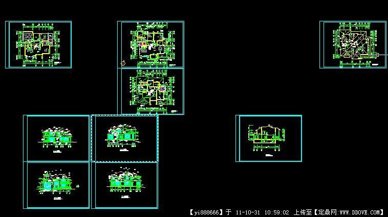 经典别墅建筑设计施工图的下载地址,建筑施工图纸,,.