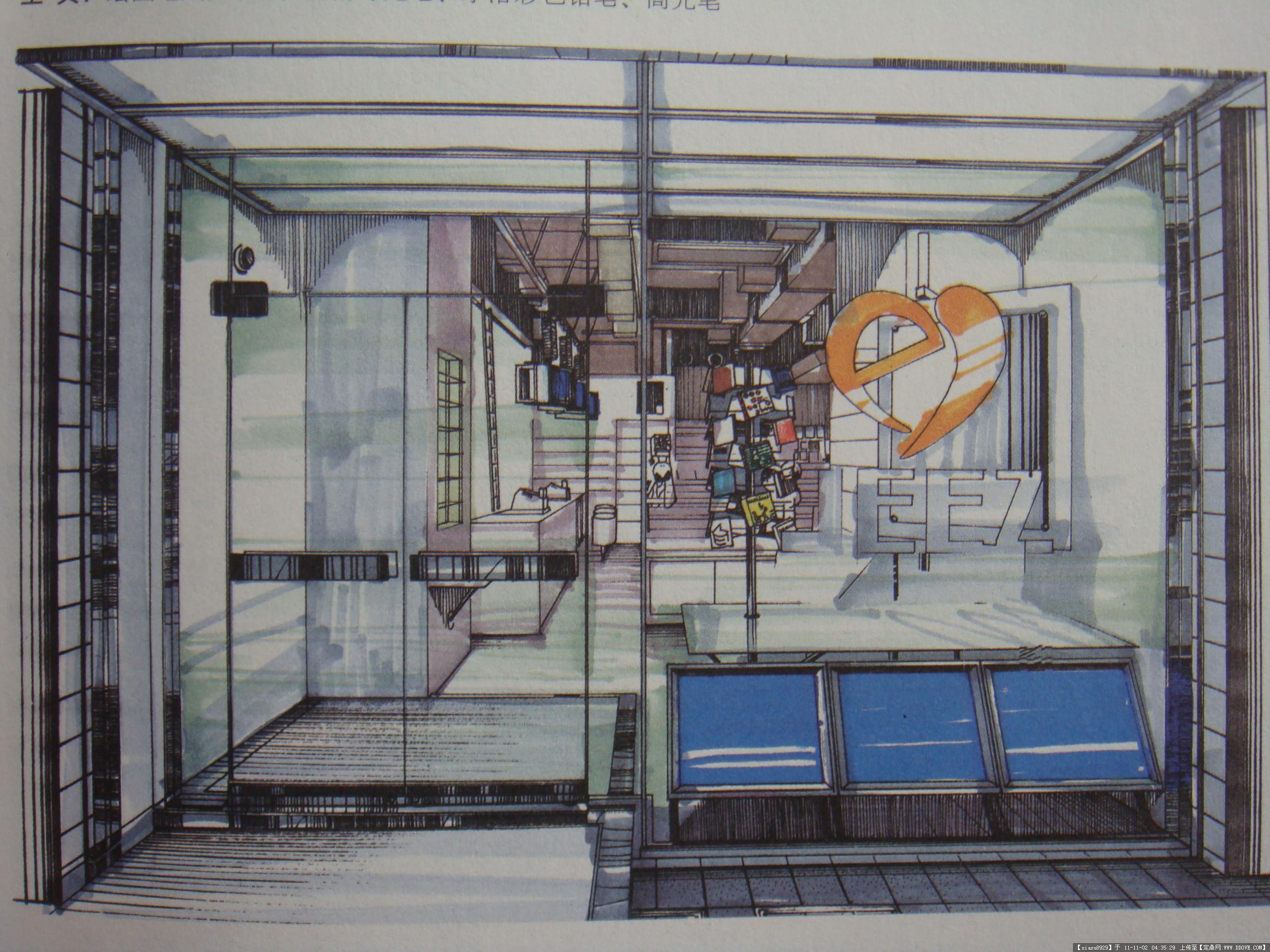 公共空间手绘效果图2(室内外)-大图15张图片