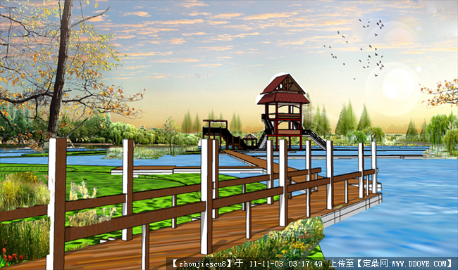 风景区效果图的下载地址