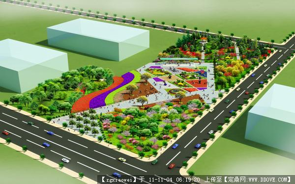 定鼎網 定鼎園林 園林方案設計 城市廣場 景觀大道休閑廣場地塊方案圖