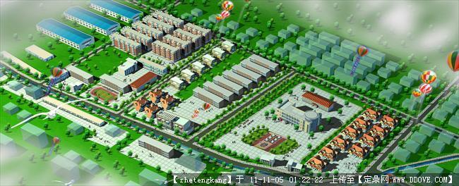 新农村规划效果图1高清图片