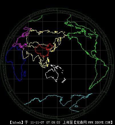 CAD平面世界地图cad图画地球电视柜图片