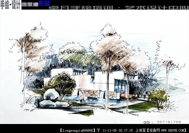 手绘房子设计图