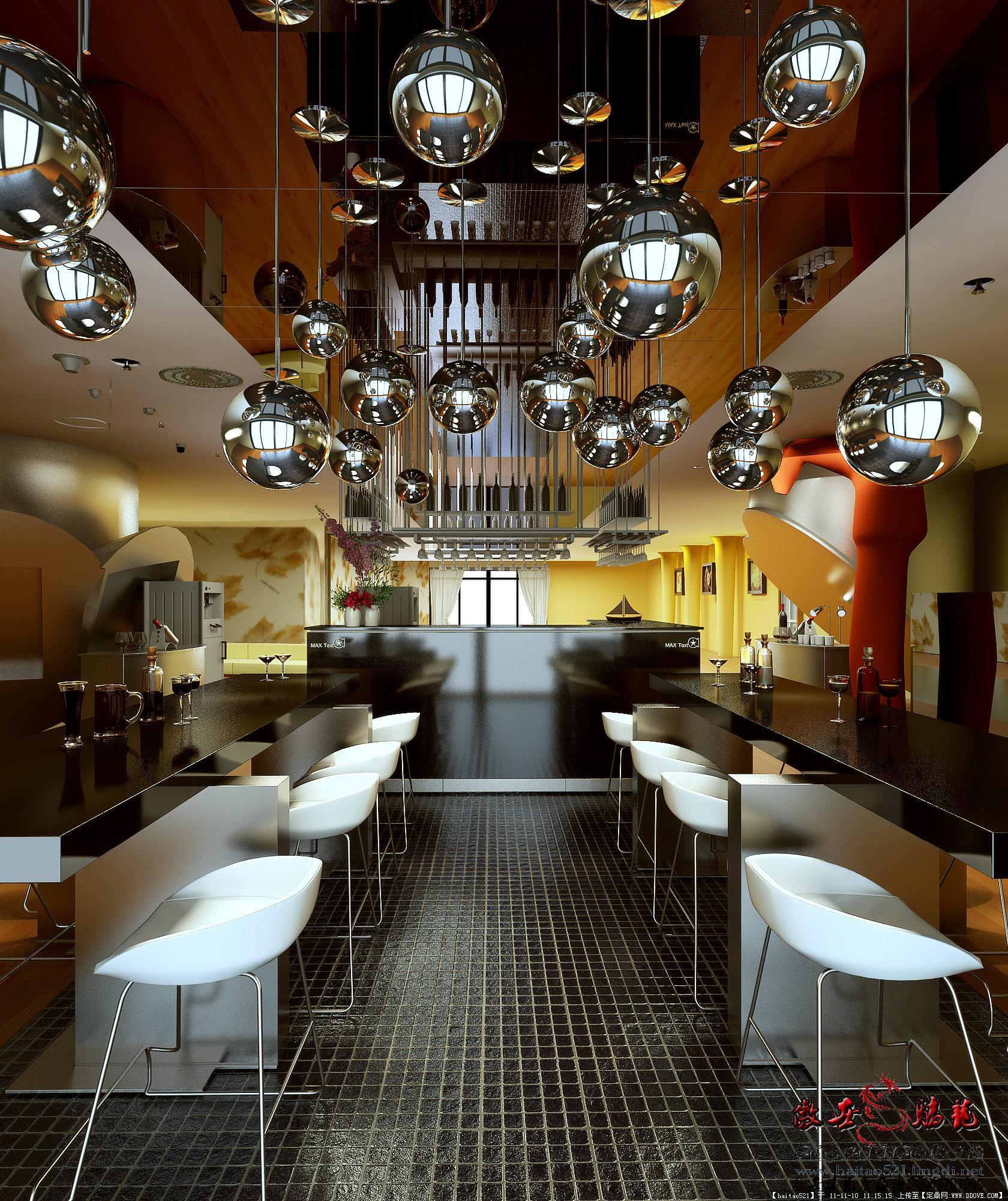 酒楼餐厅经典室内设计效果图20张-大图