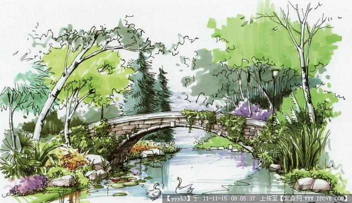 滨河公园手绘效果图-滨河公园手绘效果图01.jpg 原始尺寸:700 * 404
