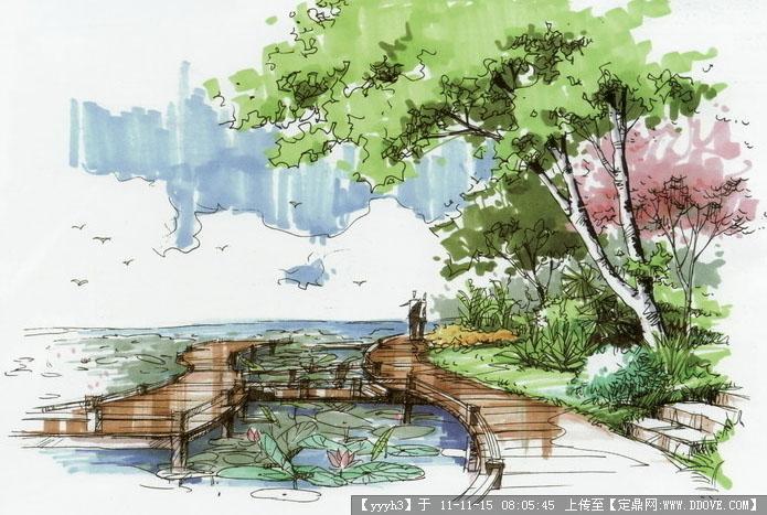滨河公园手绘效果图7张-中图的图片浏览